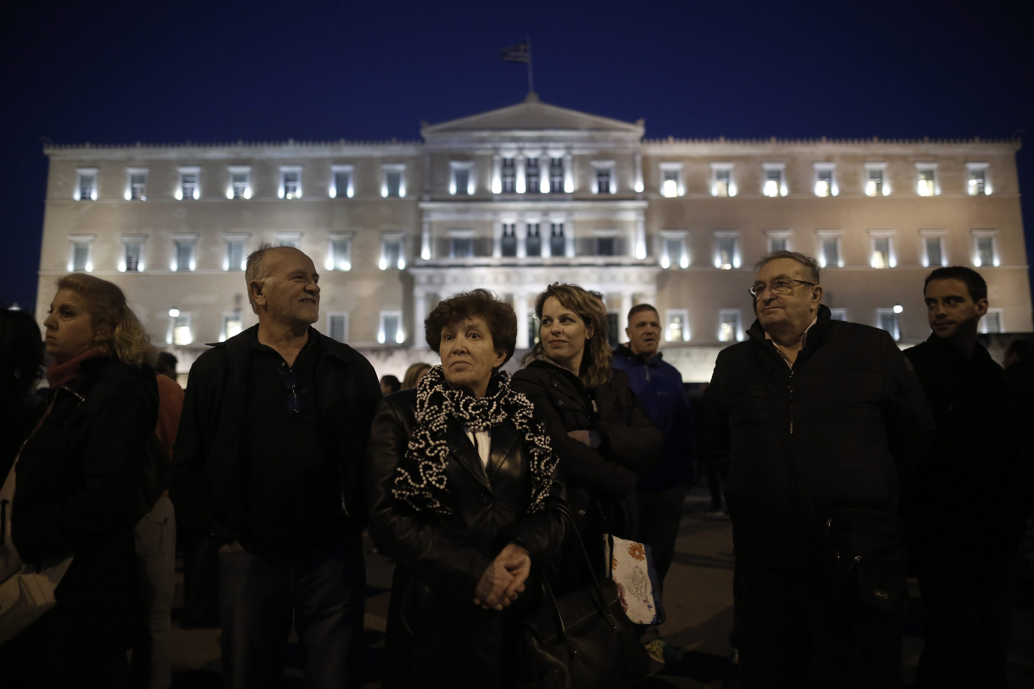 Silent protest in solidarity with the Greek government